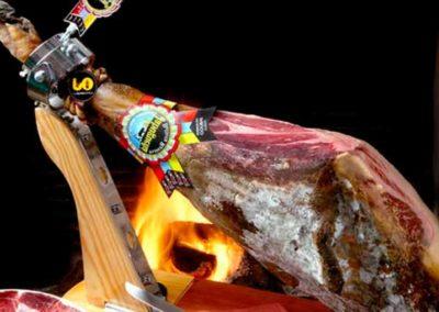 Spanish ham tapa